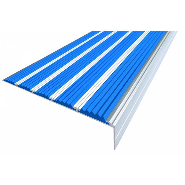 Алюминиевый угол c 5 вставками 160 мм синий 3м