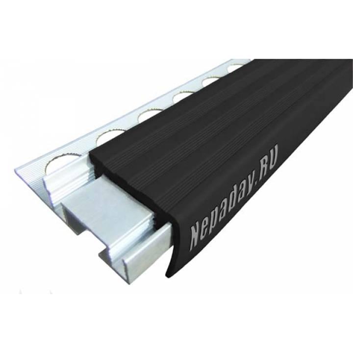 Алюминиевый угол ALPB черный 2.4м