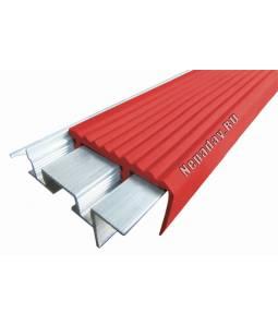 Алюминиевый угол SafeStep красный 2.4м