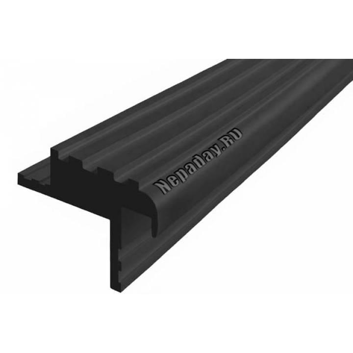 Резиновый профиль Безопаснй Шаг БШ-40 черный 1м