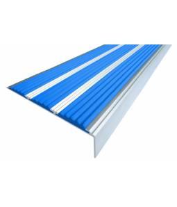 Алюминиевый угол с 3 вставками 98 мм синий 1м