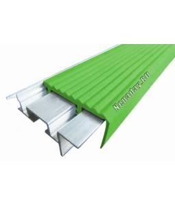 Алюминиевый угол SafeStep зеленый 2.4м