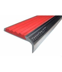 Алюминиевый угол с 1 вставкой 42 мм красный 1м