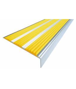 Алюминиевый угол с 3 вставками 98 мм желтый 3м