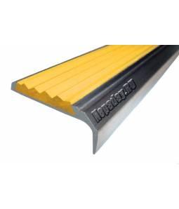 Алюминиевый угол с 1 вставкой 42 мм желтый 3м