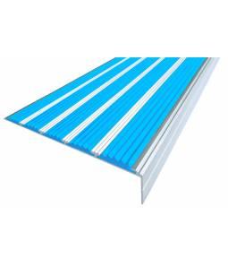 Алюминиевый угол c 5 вставками 160 мм голубой 3м