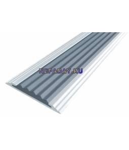 Анодированная полоса с 1 вставкой 40 мм серый 2,7м