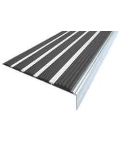 Алюминиевый угол c 5 вставками 160 мм черный 3м