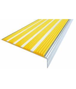 Алюминиевый угол c 5 вставками 160 мм желтый 3м