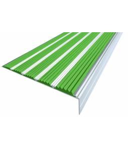 Алюминиевый угол c 5 вставками 160 мм зеленый 3м