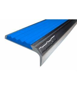 Алюминиевый угол с 1 вставкой 42 мм синий 3м