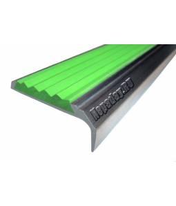 Алюминиевый угол с 1 вставкой 42 мм зеленый 1м