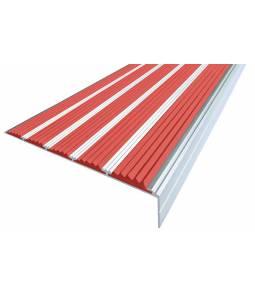 Алюминиевый угол c 5 вставками 160 мм красный 3м