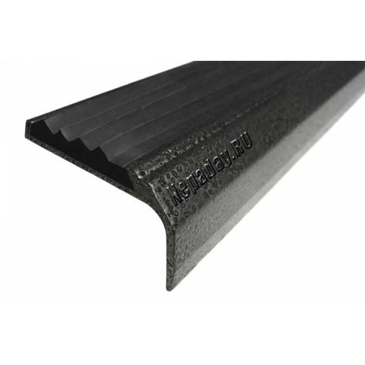 Окрашенный угол с 1 вставкой 42 мм серебро 2м