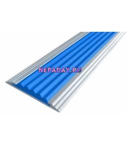 Анодированная полоса с 1 вставкой 40 мм синий 2,7м