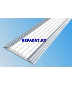 Анодированная полоса с 1 вставкой 40 мм белый 2,7м