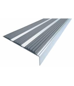 Алюминиевый угол с 3 вставками 98 мм серый 2м