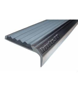 Алюминиевый угол с 1 вставкой 42 мм серый 1м