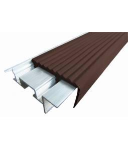 Алюминиевый угол SafeStep тем-коричневый 2.4м