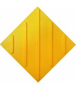Тактильная плитка ПВХ диагональ полиуретан без клея